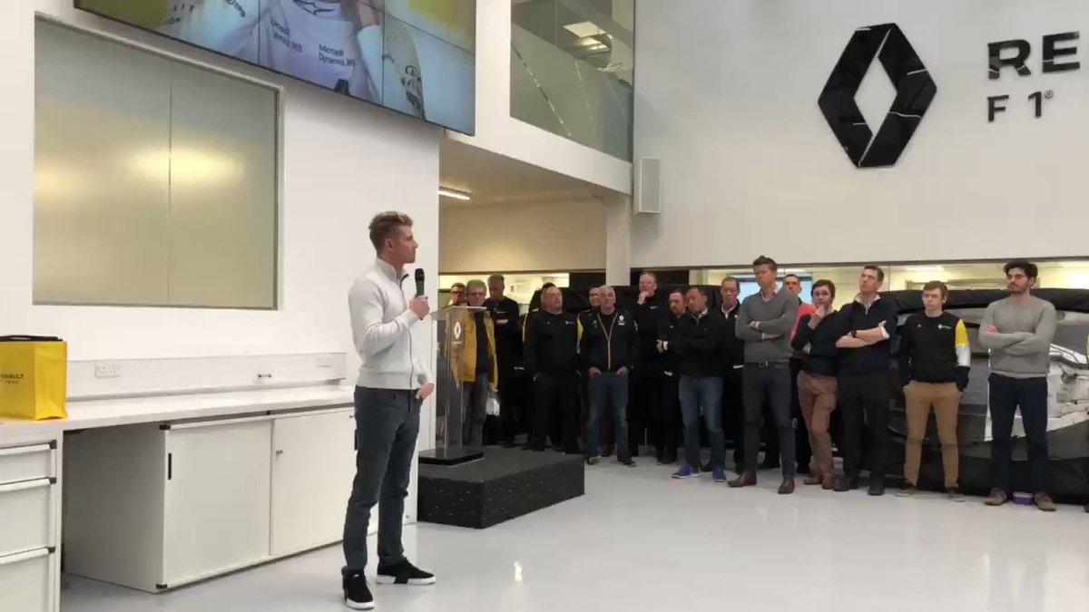 about today.. saying goodbye to @RenaultF1Team at Enstone 👋🏼