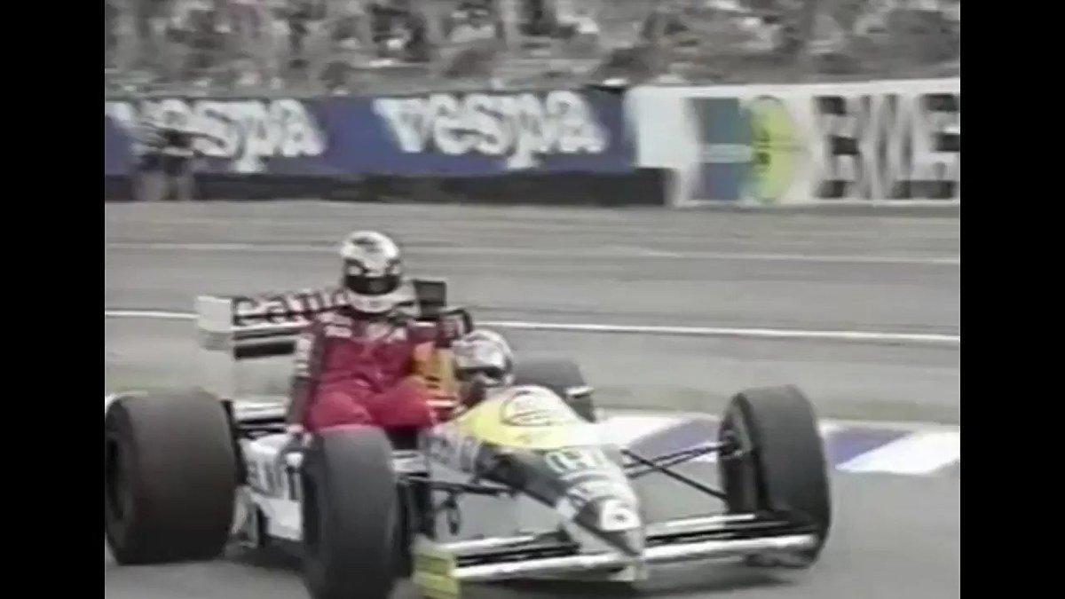 No fuel saving here. Winning and losing down to the very last drop.  Nelson Piquet & Keke Rosberg #GermanGP 1986 #F1