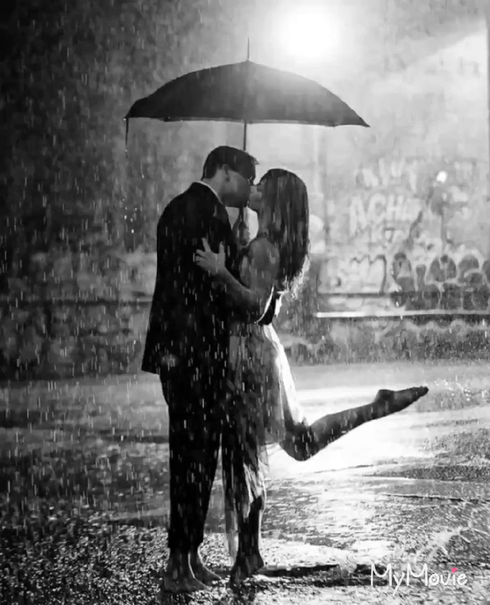 Картинки девушка и парень под дождем картинки