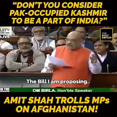 Dont You Consider Pak Occupied Kashmir to be a Part of India..?? #MotaBhai Rocks 😎🤘 #CABBill #CitizenshipAmendmentBill2019