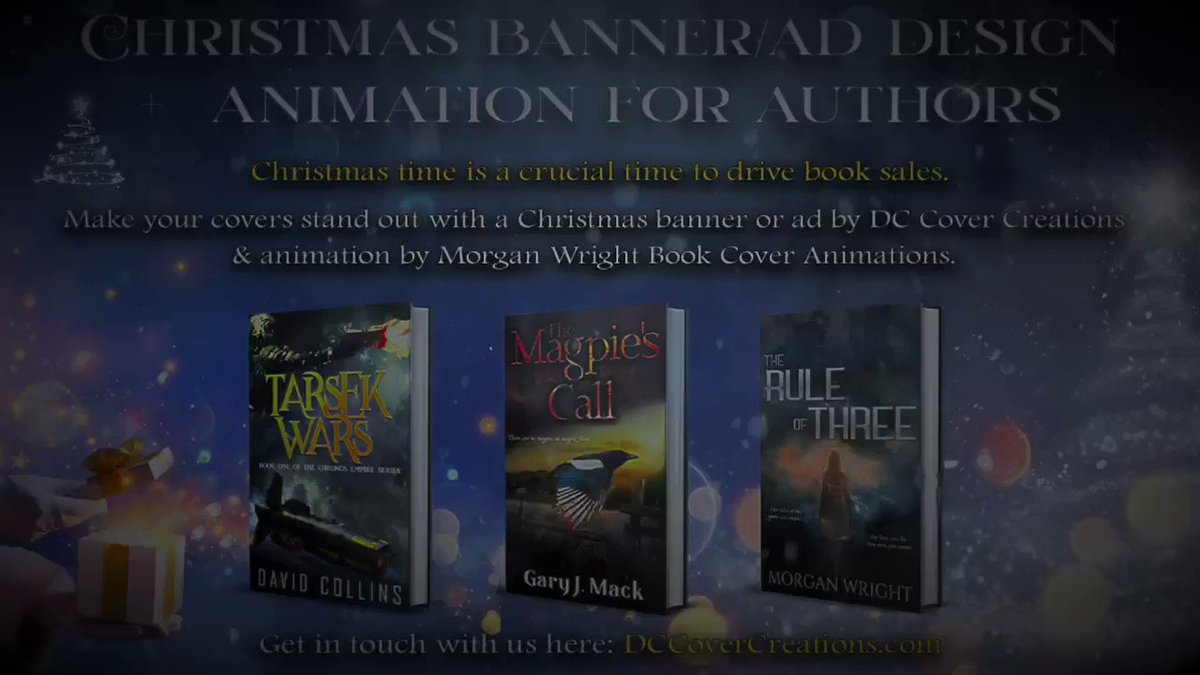 Check out these Christmas banners designed by @DJCollins82 & animated by @byMorganWright (that's me😍!!) Get Christmas banners to promote your books during the holiday season too🤩👉: dccovercreations.com/product/christ… #WritingCommunity #amwriting Banners finalized this week: