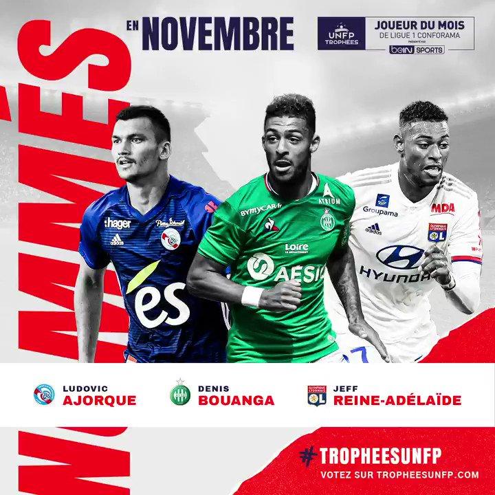 Ligue 1 : les nommés pour le trophée de joueur du mois de novembre