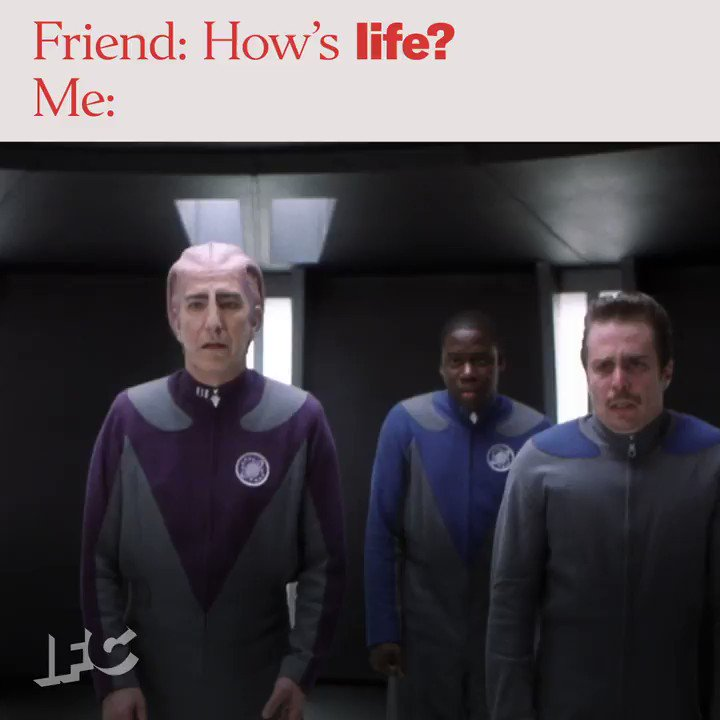 Hanging in there. #GalaxyQuest tomorrow 5:30P on @IFC.