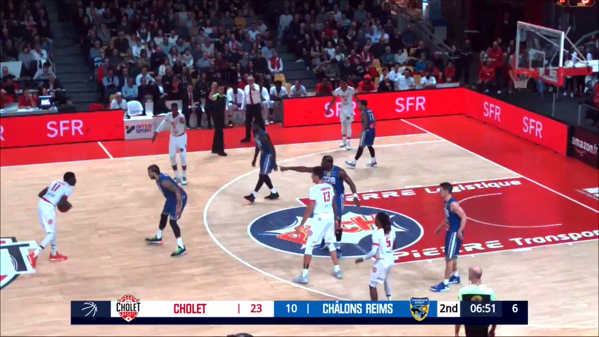 Best game of the season for 6-7 + 21-year-old #Cholet G prospect Abdoulaye N'Doye, who finished with 16 PTS (6/6 FG, 2/2 3FG), 7 ASTS, 6 REBS + 6 STLS in 28 MINS of action in a 76-68 win over Chalons-en-Champagne. Has a tremendous frame + is a much improved shot maker this year