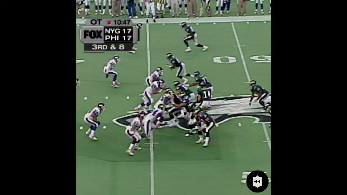 .@michaelstrahan called GAME with this pick six. (Oct. 31, 1999) #GiantsPride   #NYGvsPHI: TONIGHT 8:15pm ET on ESPN