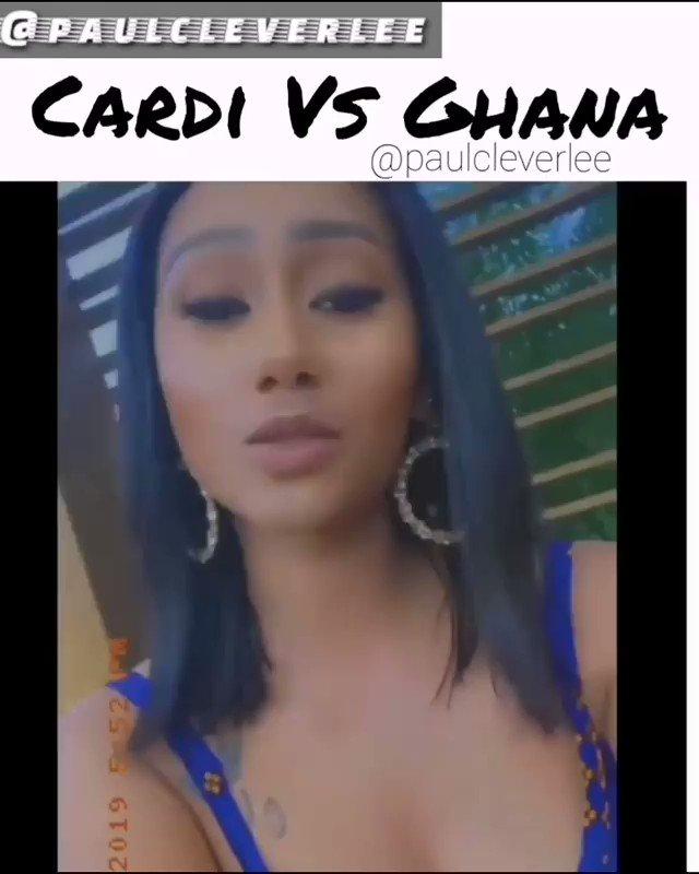 "Paul cleverlee just dropped this mad jam Ft Cardi B and Ghana ""familiar faces"" 😩😅😂😂 #ghanavsnigeria #CardiBInAccra"