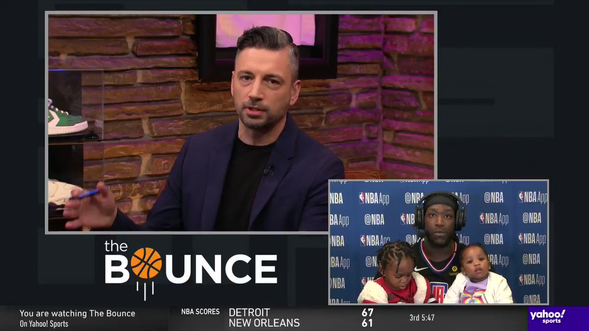 💗 CUTE MOMENT 💗  @MONSTATREZZ's daughter couldn't hang during his interview on #TheBounce 😂