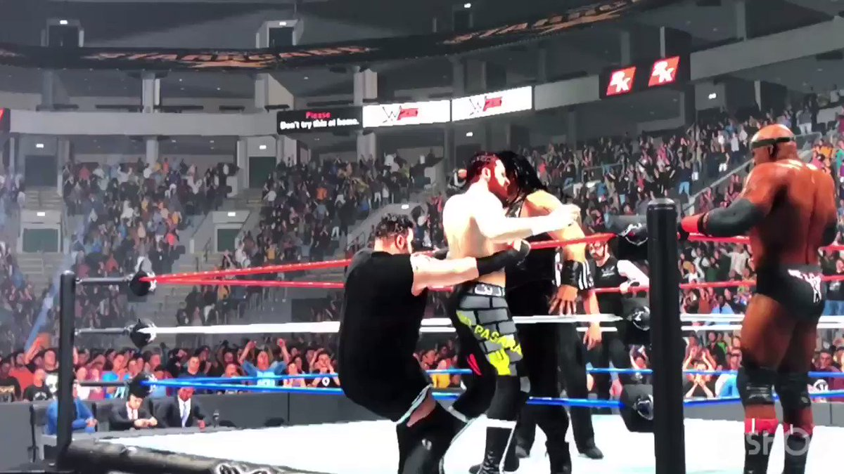 #WWEstarrcade #WWENetwork special #juneppv #KevinOwens #SamiZayn & #BobbyLashley 🆚#TheShield pt4