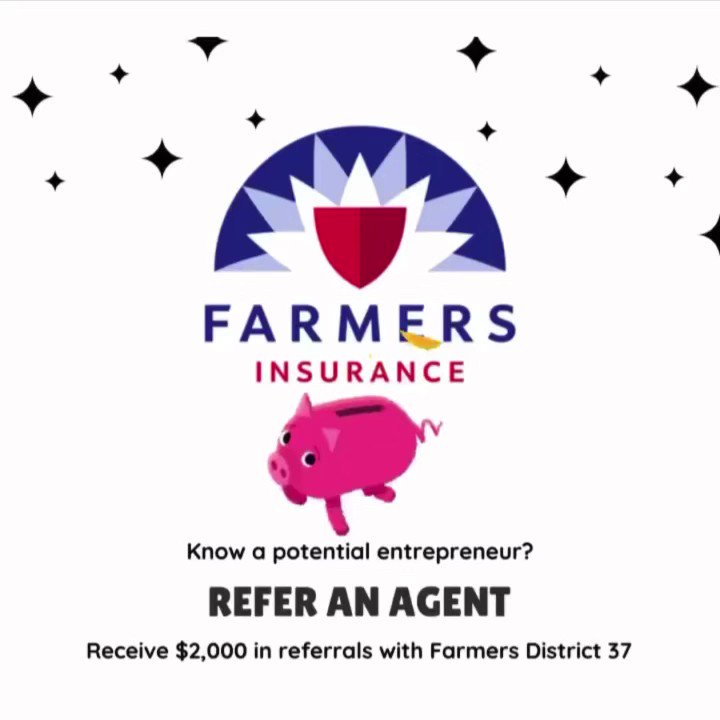 Refer an agent(s) today, and you could earn $2,000! Contact our district office! • • #farmersagentsdoitbetter #protegeprogram #connect #atxlife #atx #austin #texas #autogramtags #tuesdaymotivation #opportunity #farmersdistrict37 #agentreferral #referrals #network
