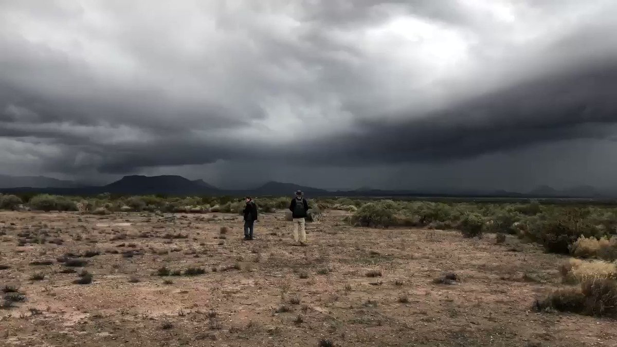 Hiking with my buddy Serraglio and Alan Weisman, author of The World Without Us and Countdown. We had to cross a flooded arroyo and some dense thorn scrub, then we got lost as a storm rolled in. We found the truck just before it clobbered us. The desert was moody as hell.