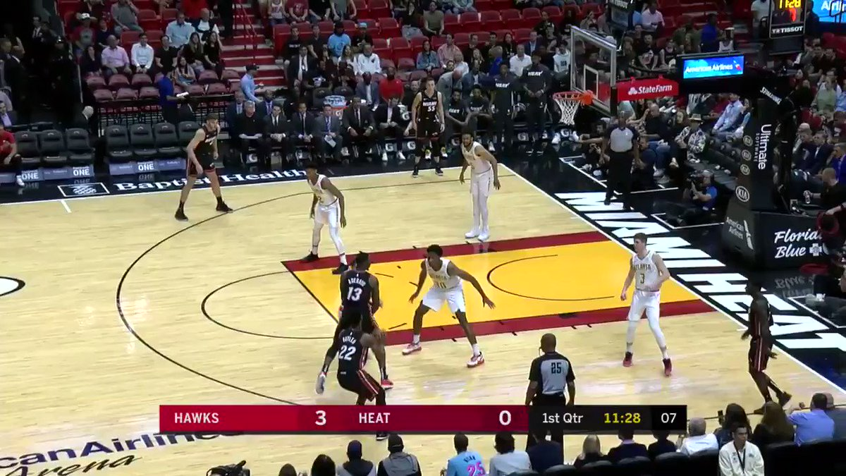 NBA Miami Heat former Michigan basketball Duncan Robinson 10 threes