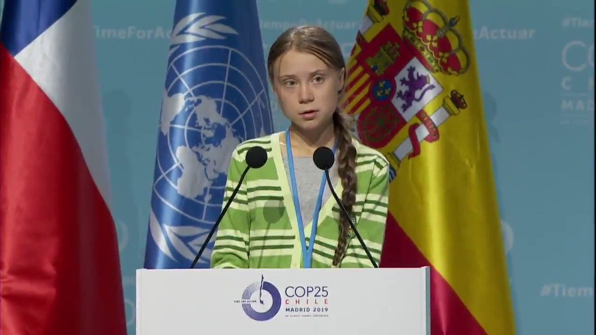 """Well I am telling you there is hope. I have seen it. But it does not come from governments or corporations. It comes from the people.""  Here's a small part from my speech today at the #cop25 in Madrid."