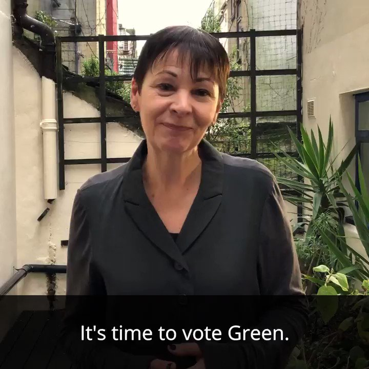 Polls are open. Today's the day to vote Green! If not now, when? #votegreen2019 #GE2019