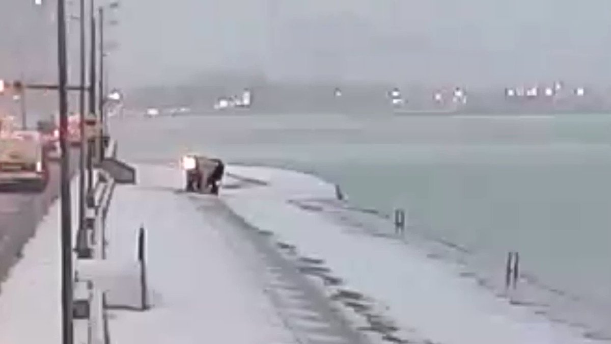 TONIGHT AT 5 & 6 @cbschicago: The stunning video behind today's icy accident along Lake Shore Drive in Chicago. We have the three reasons THIS patch was so dangerous.