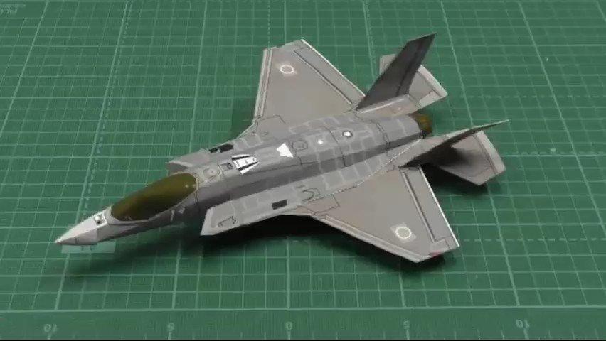 #空幕広報室 です✈︎ F-35Aのペーパークラフト展開データを空自HPにアップしました💻   組立て映像はコチラに👇 なかなかカッコイイ😙✨ #F35 #ペーパークラフト #aircraft #カミワザ #Ojimak