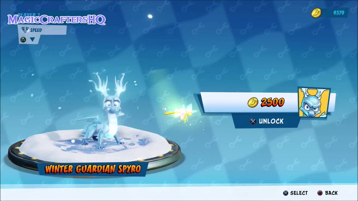Winter Guardian #Spyro in motion! :D#SpyroTheDragon #CrashTeamRacingNitroFueled #CTRNitroFueled