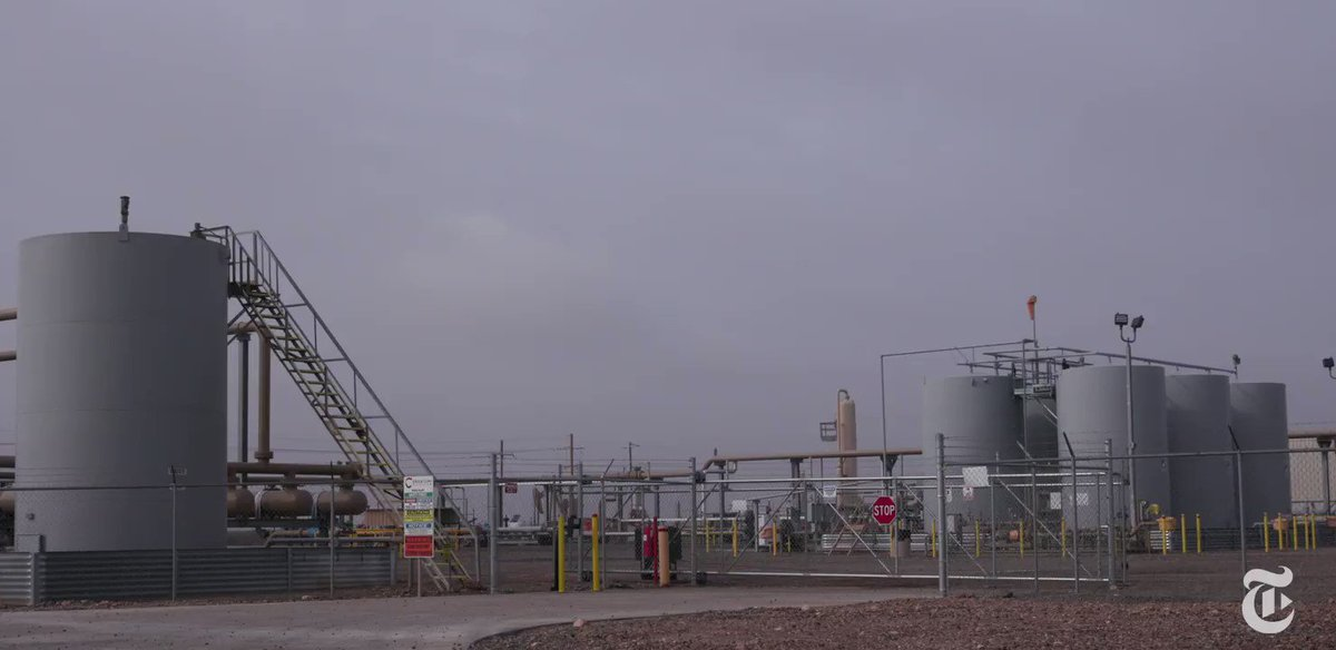 At one site in Texas, a worker walked directly into an invisible methane plume unprotected. Methane contributes to ground-level ozone, which, if inhaled, can cause asthma and other health problems. https://nyti.ms/2YJsOk9