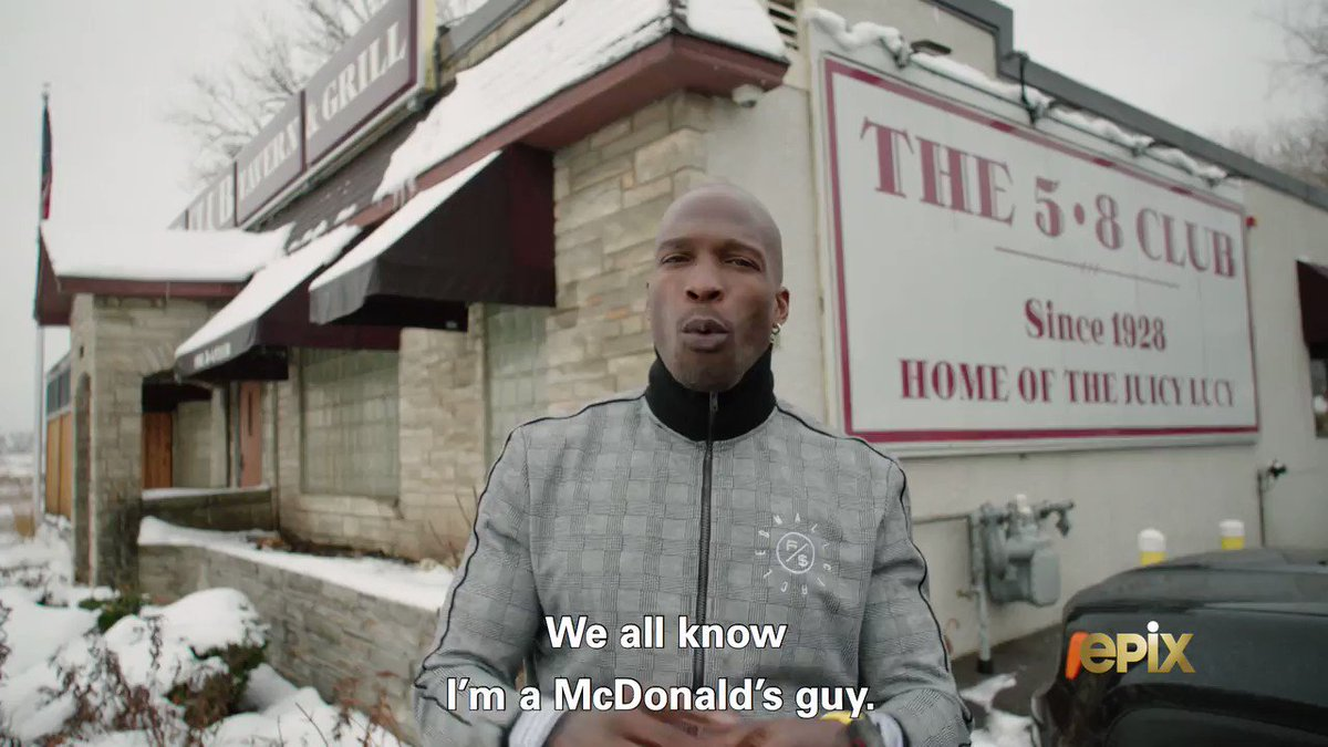 I need a burger after watching @ochocinco chow down on the @58club's Juicy Lucy 🤤  #NFLTheGrind | @EPIXHD