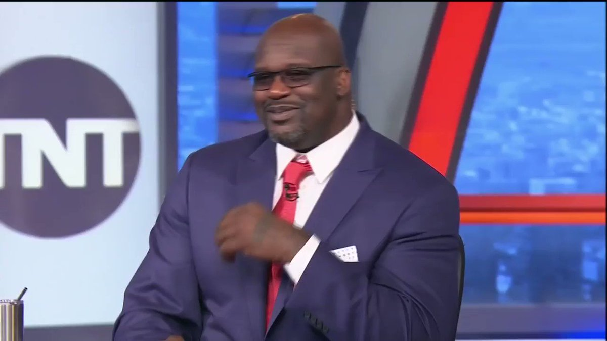 "Replying to @cjzero: Shaq tells a story about Stevie Wonder ""seeing"" him at the building they both live in"