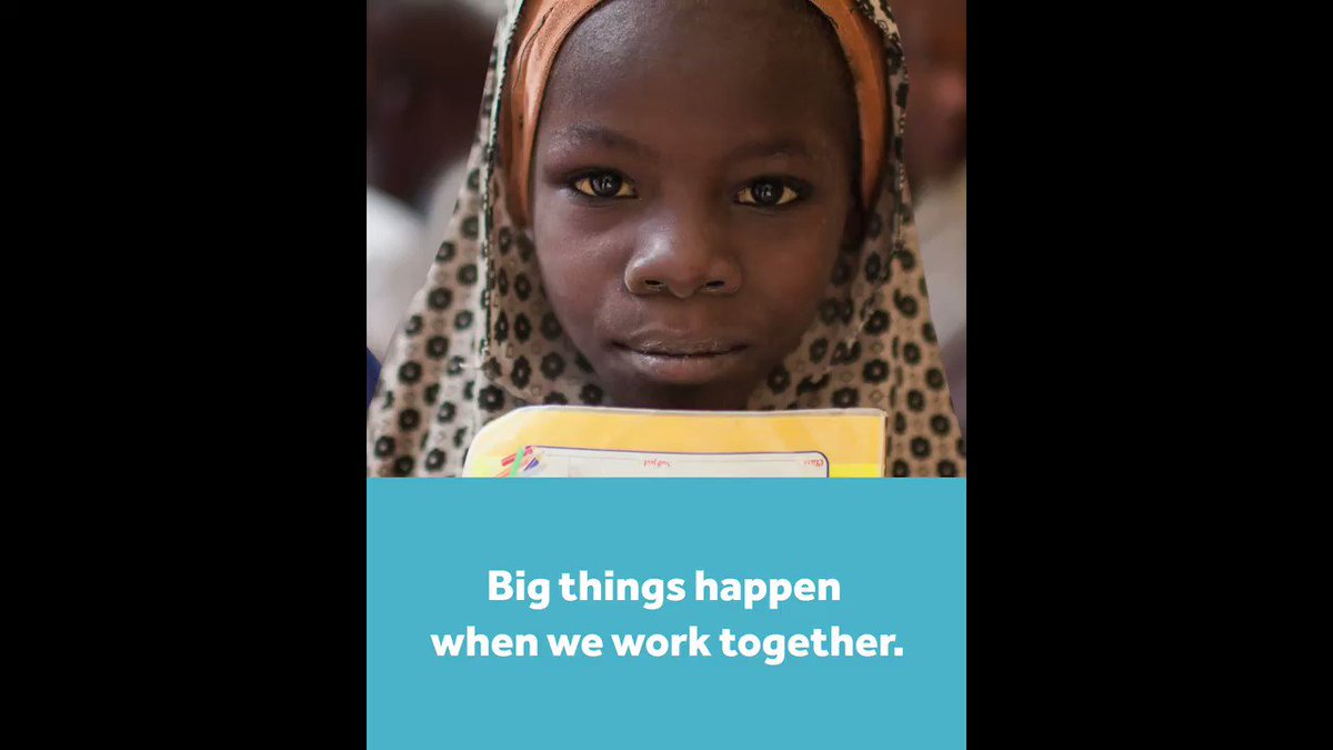 Big things happen when we work together.Thank you to all of our partners @RESCUEorg @PlanGlobal  @WarChildHolland @poverty_action @UBONGOtz & @B_I_Tweets #PlayMatters
