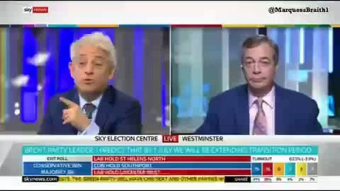 Nigel Farage absolutely savages John Bercow. You just love to see it 😂😂😂😂