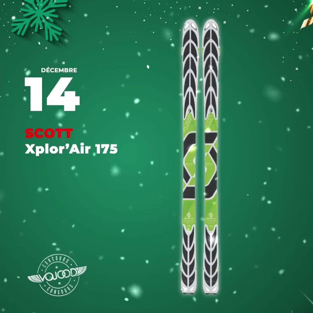 🎅🏼14 Décembre🎁 Participe et GAGNE tes skis @scottfreeski Xplor'Air 175 🎉  Rendez-vous sur http://www.vojoodmedia.com  #calendrierdelavent #adventcalendar #raffle #concours #calendrierdelavent2019 #adventcalendar2019 #giveaway #lausanne #vaud #suisse #ski #scott #xplorair