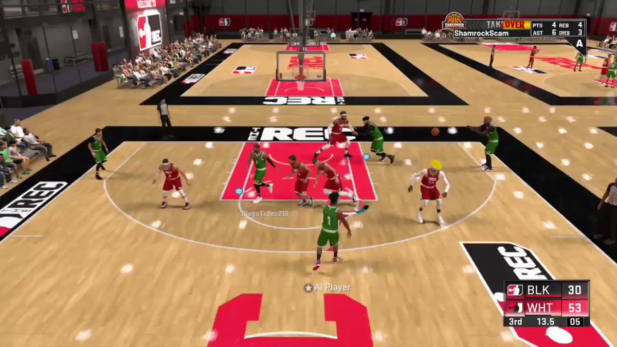 A little bit of everything gets the job done. @ShamrockScam struggling with scoring lately has been a key 🔑 component on defense and as a rebounding presence. Extra passes make GREEN ✅ things happen‼️👀🏀🎮 @balts2315 with the corner greens 🥬💦   #NBA2K20 #NBATwitter #NBA