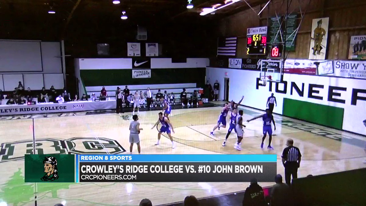 Image for the Tweet beginning: Crowley's Ridge College basketball recorded