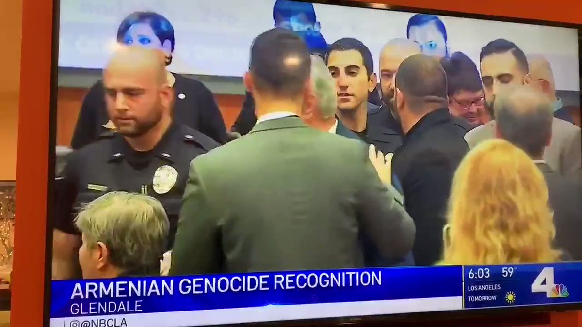 SHAME: A handful of pro-Trump agitators tried to hijack an Armenian community gathering tonight (Glendale, CA) to mark Congressional passage of a historic resolution commemorating the #Armenian #Genocide - Turkey's WWI-era mass extermination and exile of millions of Christians.