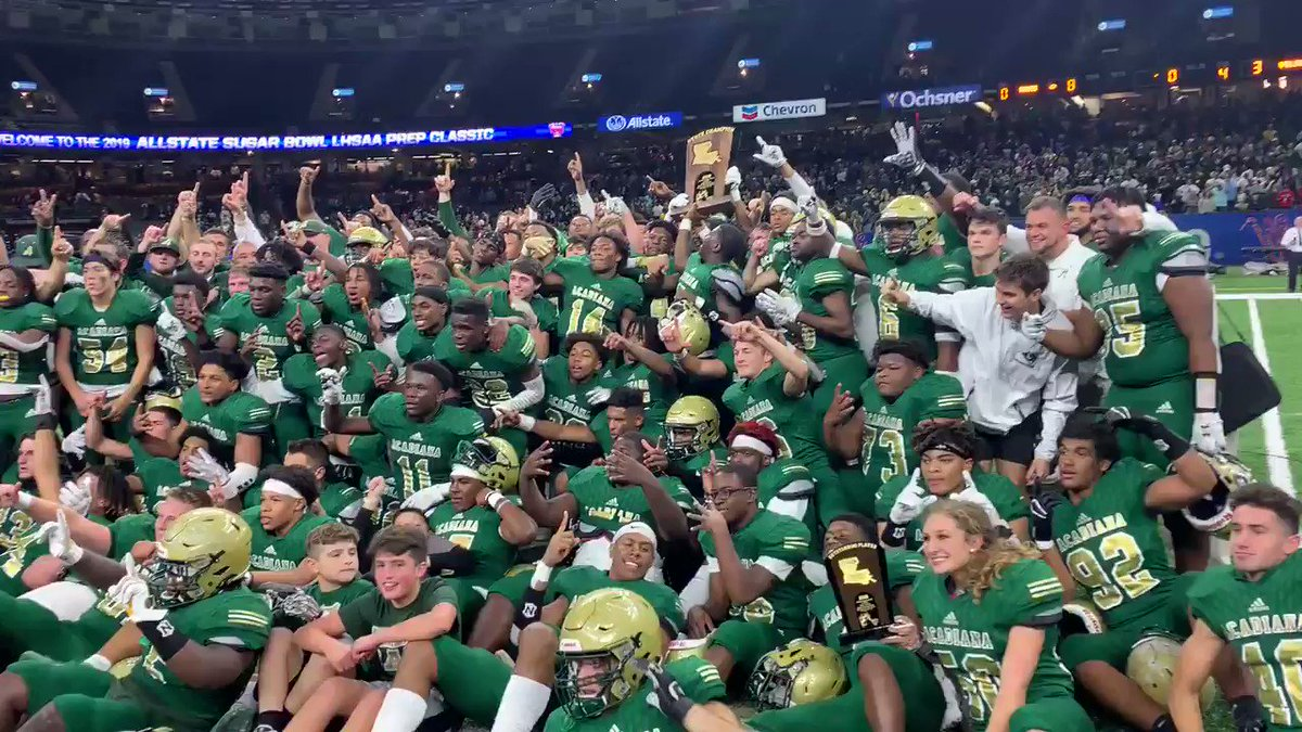Image for the Tweet beginning: Acadiana wins the 5A State
