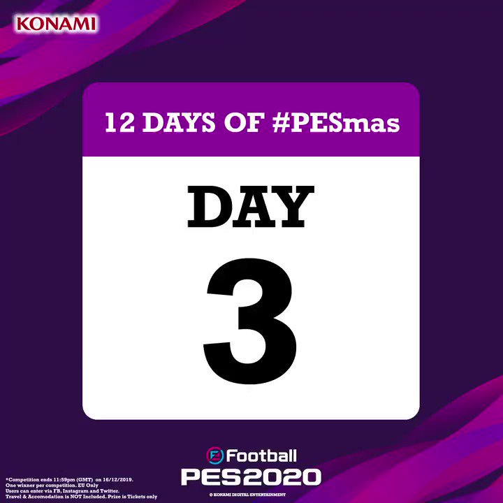 On the 3rd Day of #PESmas...  WIN - 2x TICKETS TO MAN UTD HOME GAME 2020  To enter via Twitter, Reply & R/T with #PESmasDay3  Ends 11:59am 16/12/19. Winner will be contacted within 72 hours.  Link to T's & C's in bio https://t.co/MSNvz4KPHd