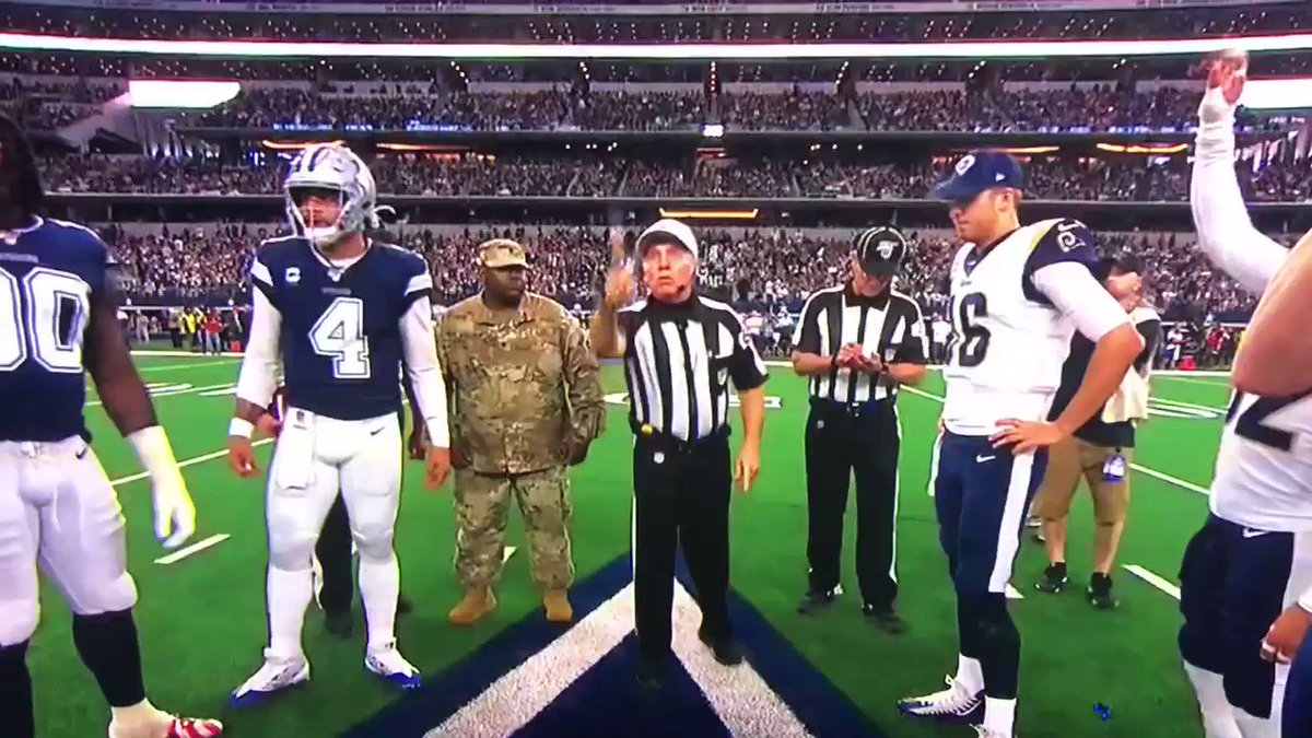 Rams vs. Cowboys: Ref screws up coin toss in mind-boggling fashion