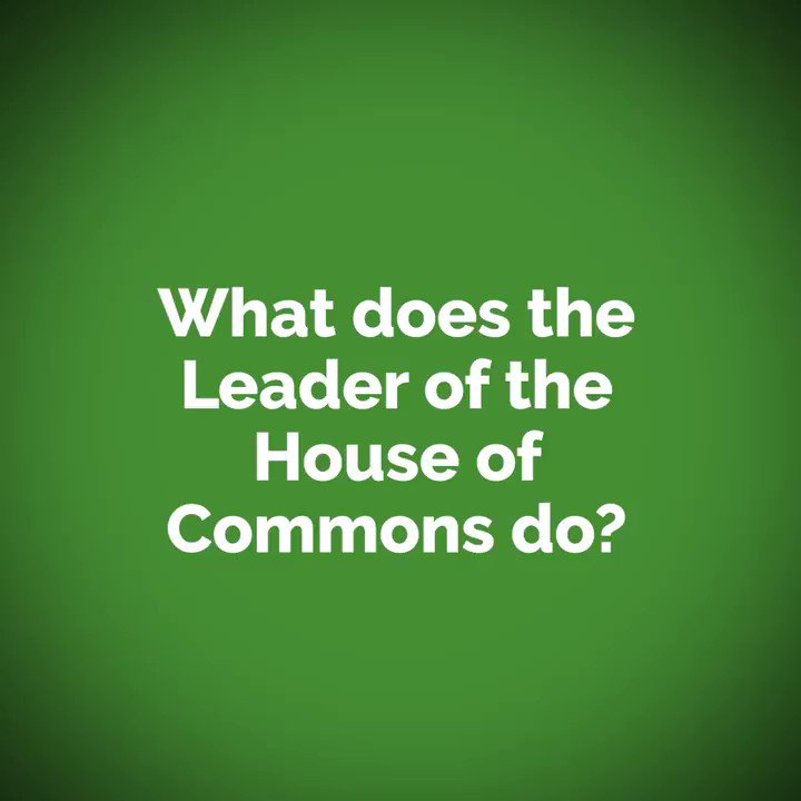 As parliament begins a new session, heres a quick rundown of the role of Leader of the House of Commons in under sixty seconds 👇