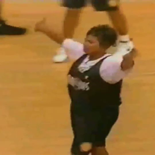 That time Queen Latifah stole the ball from Shawn Kemp and finished with a fastbreak layup.