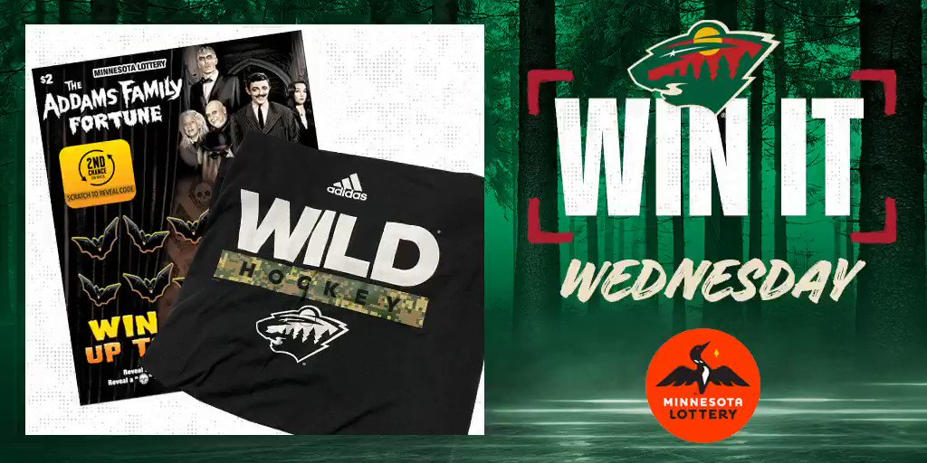 🎉 Say I'MN to #WinItWednesday. 🎉  RT for a chance to win a #mnwild t-shirt, $50 in @mnlottery scratch 🎟 and more!  Rules: