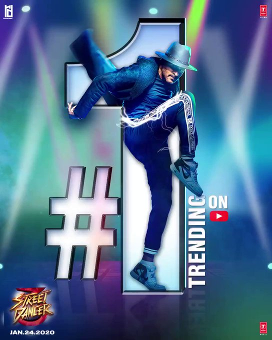 No.1 team 😍 No.1 dance 🕺🏻 No.1 on YouTube trends!🔥 Slay to the beats of #StreetDancer3D trailer now💯