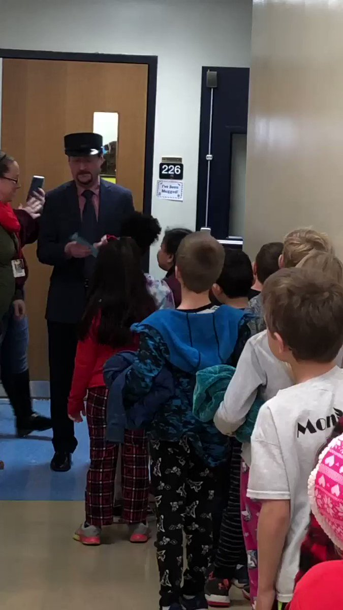 @NWElementary The Polar Express visited North Wales today! #bragtag
