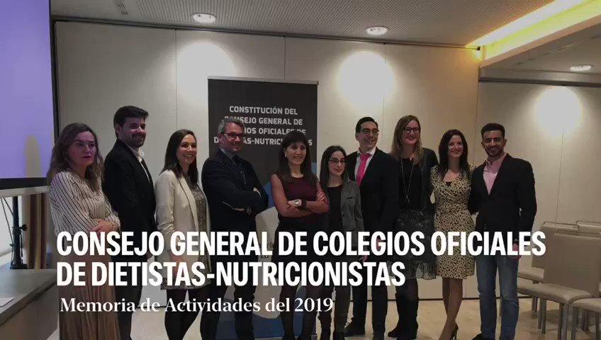 Memoria de actividades 2019 del Consejo General de Colegios Oficiales de Dietistas-Nutricionistas