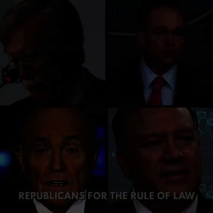 """""""The witnesses must testify. Call your senators now."""" This ad from Republicans for the Rule of Law will run over the next two weeks in targeted states."""