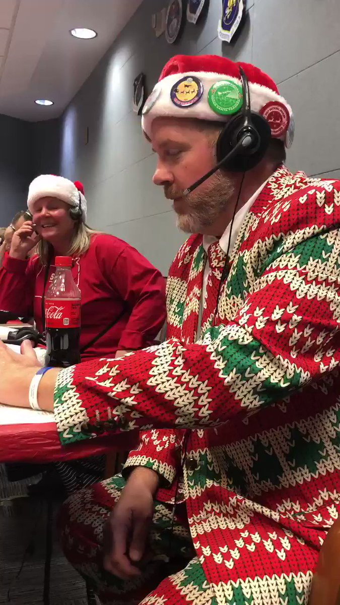 A call into the Ops Center to one of Santa Tracker volunteers...call us at 1-877-HI-NORAD