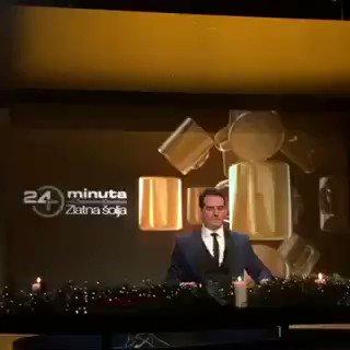 """Večeras nema #24minuta, umesto toga - poslednja, specijalna novogodišnja epizoda, tradicionalna """"Zlatna šolja"""", biće emitovana u utorak, 31.decembra u 21.30h 🎉 🌲 🧨 Do tada spremite svoju svečanu toaletu i najbolju rusku salatu! 👗👔👩🏻🍳 Razglasite!"""