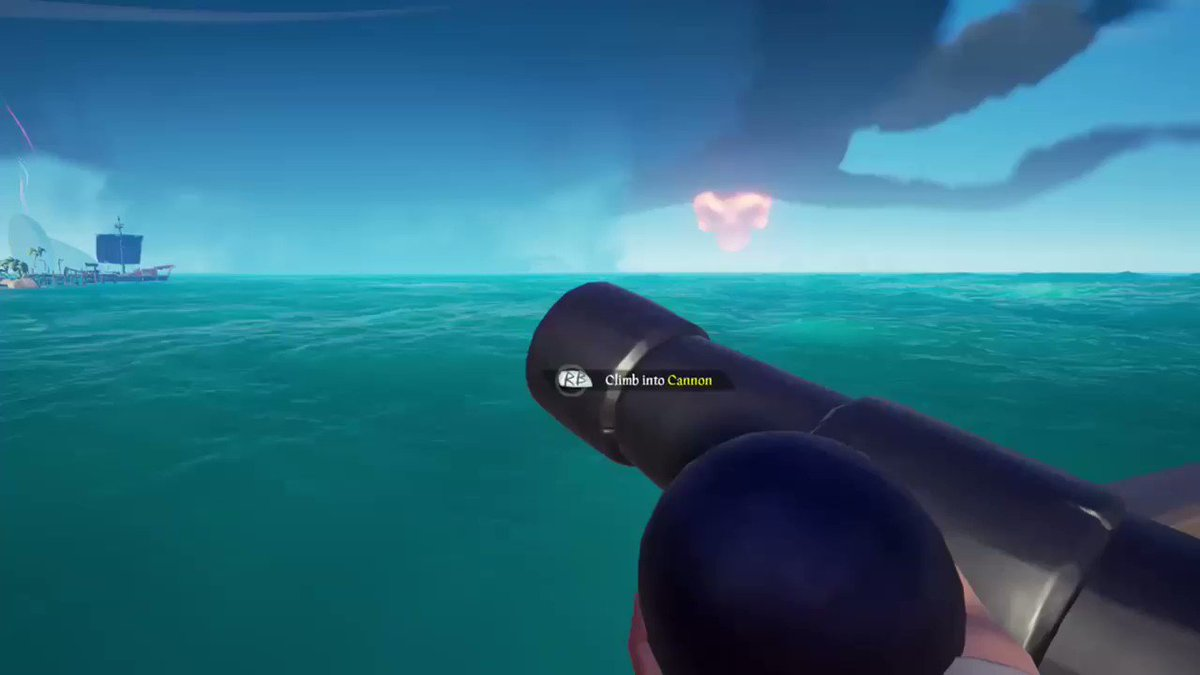 commandeering another crews sloop to fight off an enemy sloop that we just stole the FoTD loot + athena chest from before mermaiding back to our ship to fight off yet another sloop. #SeaOfThieves #BeMorePirate @SeaOfThieves @Pithen_