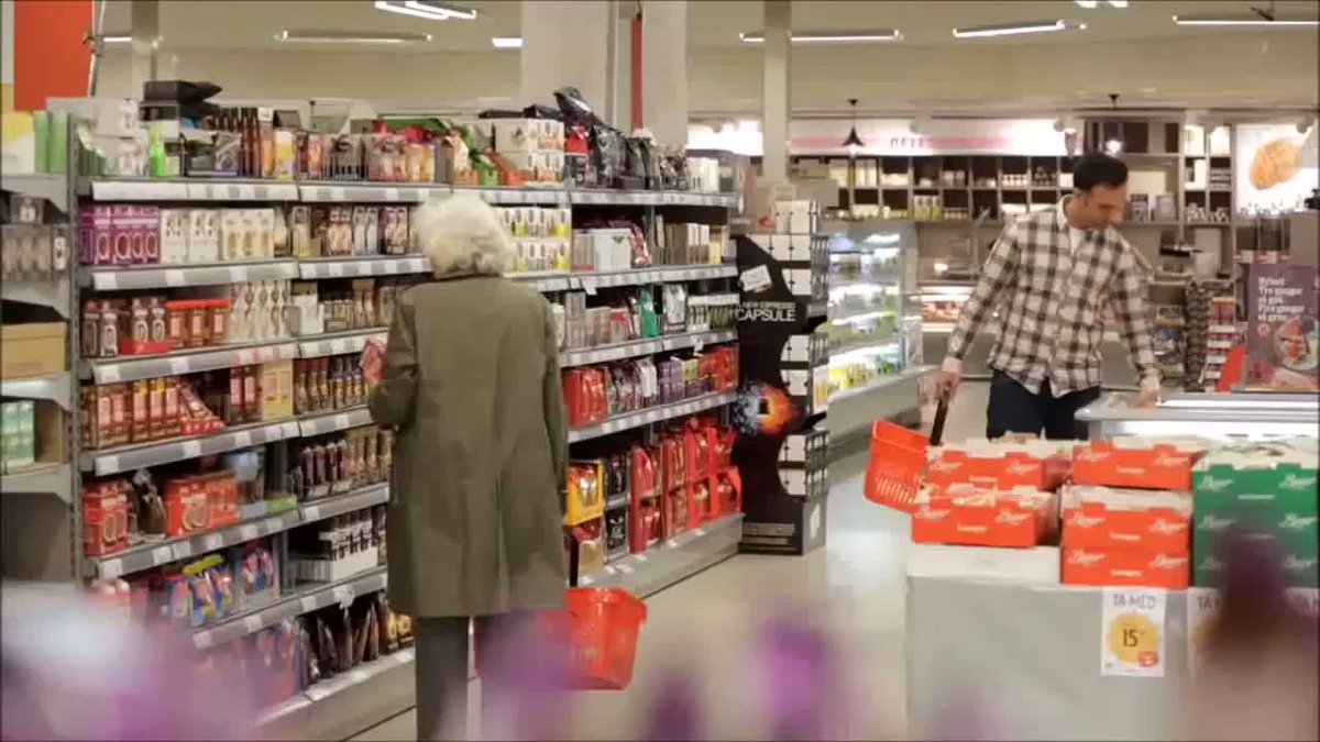 According to this Norwegian road safety ad, 70% of cyclists have experienced aggressive behaviour from motorists. ...so they tested the same behaviour in a supermarket.