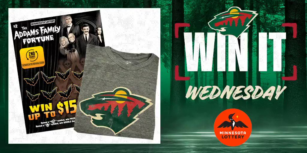 🎉 Say I'MN to #WinItWednesday. 🎉  RT for a chance to win a #mnwild long sleeve tee, $50 in @mnlottery scratch 🎟 and more!  Rules: