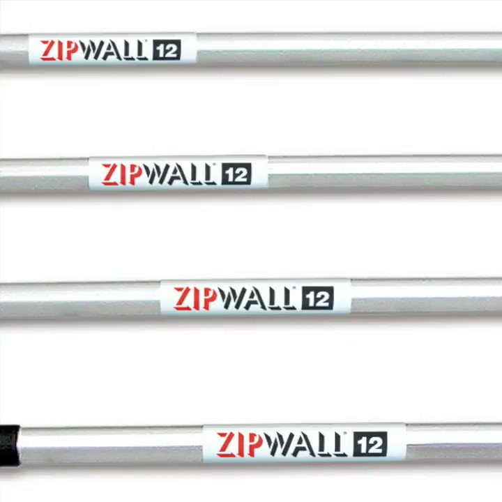 Image for the Tweet beginning: ZipWall® 12 4-Pack – a