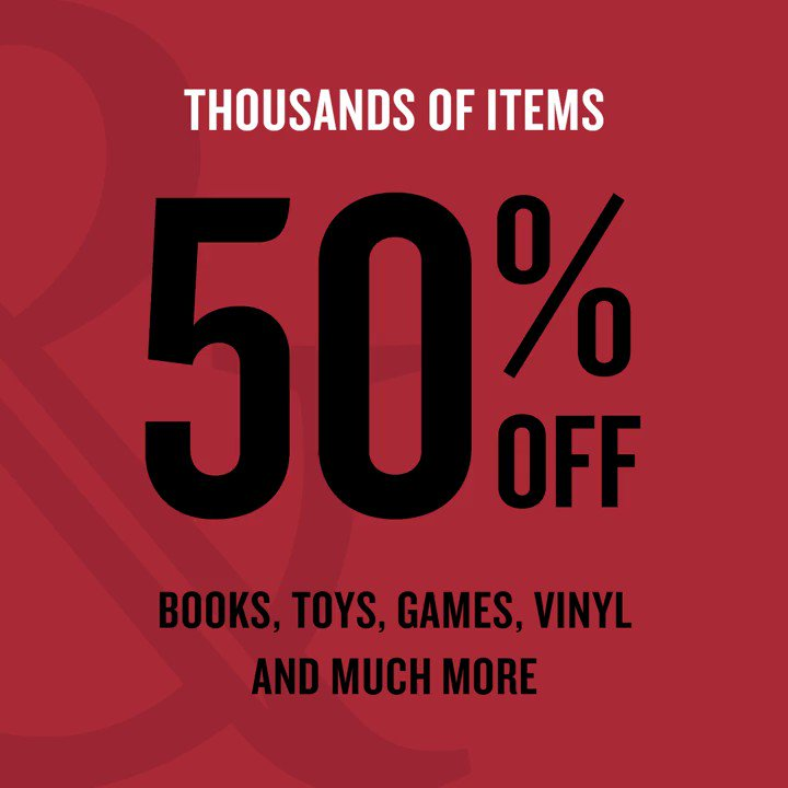 Thousands of items are 50% off! Get books, toys, games and more, while supplies last: bit.ly/2tTjcbs