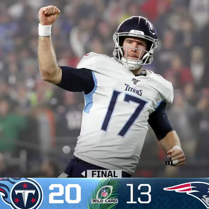 FINAL: The @Titans advance to the Divisional Round! #NFLPlayoffs #Titans (by @Lexus)