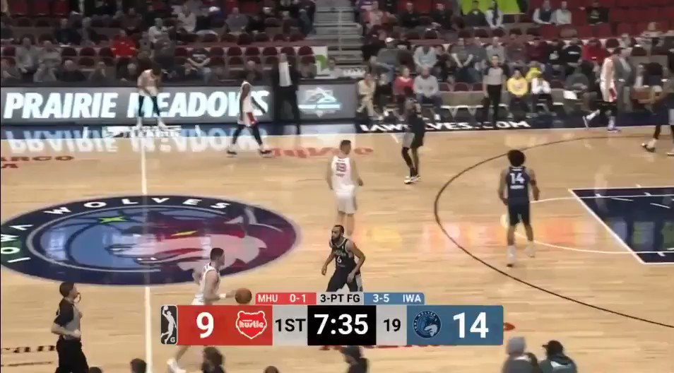This 30 second clip is an example of why I think Jordan McLaughlin is an NBA-caliber player. Showcases his ability to switch, defend bigger players in the low-post, play help D, push the ball up the court in transition and find his man in drive-and-dish.