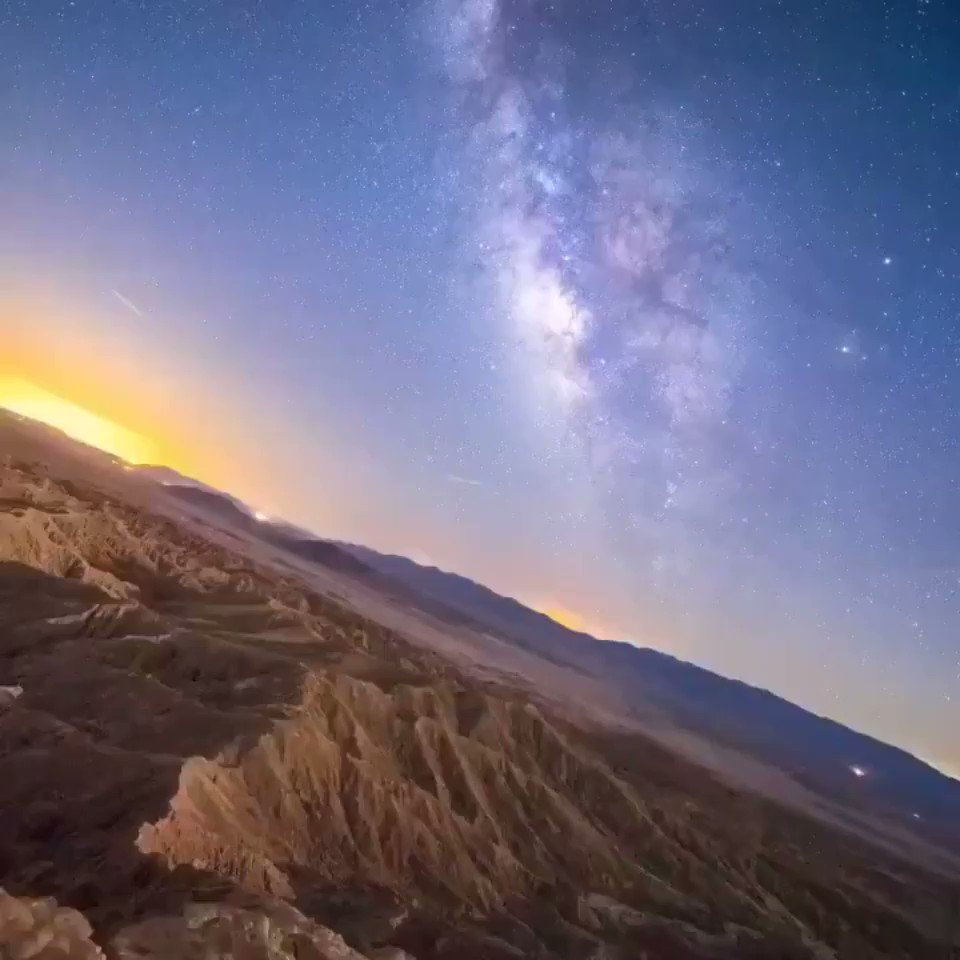 Milky Way stabilized shows the Earth is spinning through space.Credit: Eric Brummel
