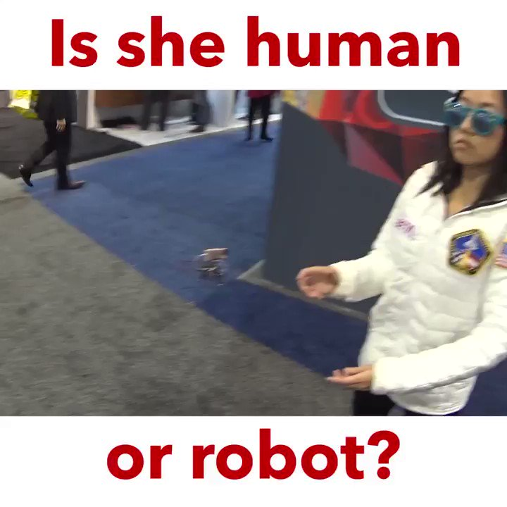 Throwback to when I stood in the robots section at #CES #CES2020